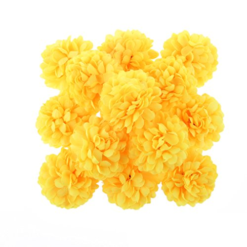30x-kunstlichen-blume-daisy-blumenkopfe-seide-kugelkopf-hochzeit-haus-dekor-gelb