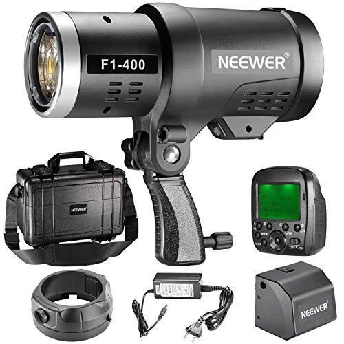 Neewer Doppel TTL im Freien Blitz Blitzlicht für Canon Nikon DSLR-Kamera, mit 2.4G FunkAuslöser + 3200mAh Akku zur Bereitstellung von 350 volle Leistung Blitzen aufbereiten in 0.1-2.5s Bowens Einfassung F1-400