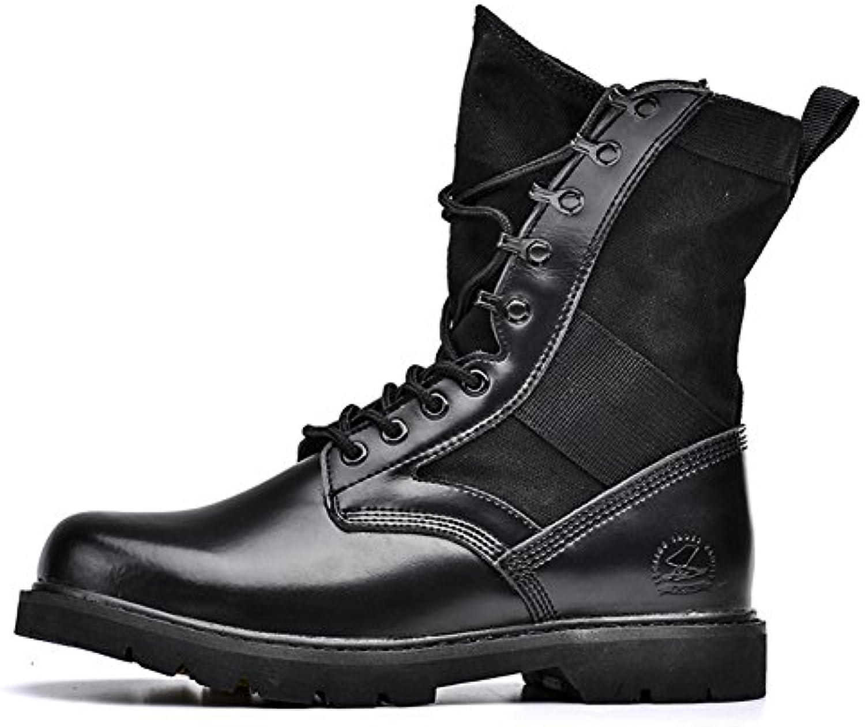 Hombres zapatos vestido escalar montañas otoño aire libre [fondo blando] botas resbalón encendido negro-marrón-negro  -