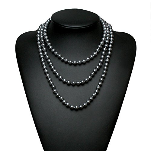 BABEYOND ART DECO Fashion Faux Pearls Flapper Beads Cluster Long Pearl Necklace 55 2Ltrh0