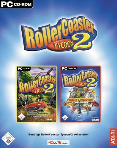 Preisvergleich Produktbild Rollercoaster Tycoon 2: Time Twister & Wacky Worlds