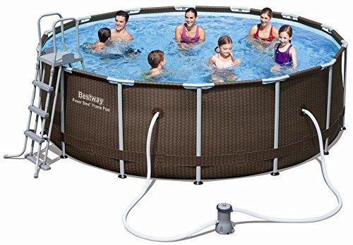 Bestway-Power-Steel-56379-Framed-pool-Alrededor-9150L-Marrn-Piscina-Framed-pool-Alrededor-9150-L-Marrn-90-cm-1817-lh