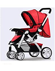 QWM-Las bicicletas infantiles para bebés Paisaje de la alta bebé Trolley ultra ligero portátil plegable se puede plegar Cuatro cochecito de bebé Regalo para niños ( Color : K )