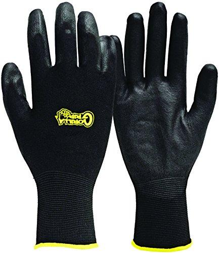 Fett Monkey 25052-26Medium Gorilla Grip Handschuhe-Schwarz