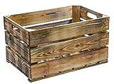 stabile flambierte / geflammte Obstkisten / Weinkisten Apfelkisten- Stiege, aus dem Alten Land +++ Natur 54x35x30 cm