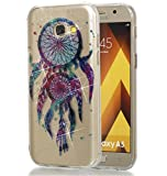 Samsung Galaxy A5 2017 Hülle, MKOAWA Kunst Gemaltes Kristall Bling Glänzend Funkeln Glitzer Durchsichtig Klar TPU Sili