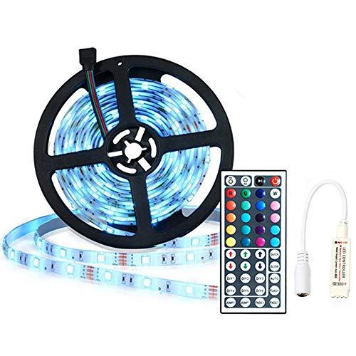 Tira LED 5m Luces LED - Tiras LED 5m con Mando de RF - Tira LED 5 Metros Impermeable 150 Leds 5050 SMD RGB Tiras de LED Kit Complet