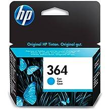HP 364 - Cartucho de tinta Original HP 364 Cian para HP DeskJet, HP OfficeJet y HP PhotoSmart
