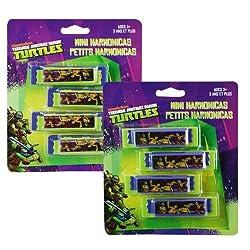 Teenage Mutant Ninja Turtles 4pk Mini Harmonicas