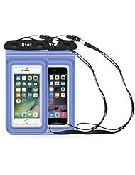 [2 Paquetes] Nueva Versión Funda Impermeable Móvil Universal 6 Pulgadas Bolsa de la bolsa seca del teléfono celular para las actividades al aire libre