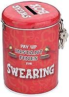 Il giuramento multe Money Box è un regalo di grande novità per chi preferisce profferire bestemmie! Questo stagno rosso metalli moneta ha giuro scatola stampata sul coperchio con una scanalatura di moneta per quei depositi di parolaccia. Inol...