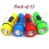 JRing Torcia Mini Torcia Portachiavi 12Pack LED, Torce Elettriche Catena Chiave, Luce Torcia, Torce Mini Tasca per Bambini Divertimento
