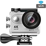 Bros Unite Action Camera FHD 1080P 4K WiFi Waterproof Mini Sport Cam With 12MP 170 Wide Angle Lens,2.0 Inch LTPS Screen,2 Pcs Rechargeable Batteries, Portable Package Included Full Accessories Kits