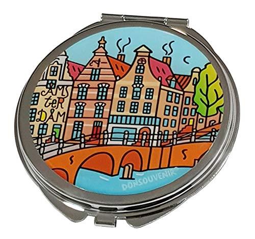 DONSOUVENIR Amsterdam Spiegel Kompakt Metall Hand Modell: Kanal - Metall-kompakt-spiegel