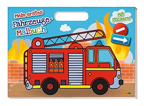 Mein erstes Fahrzeug-Malbuch: Malbuch mit Henkel und Stickern