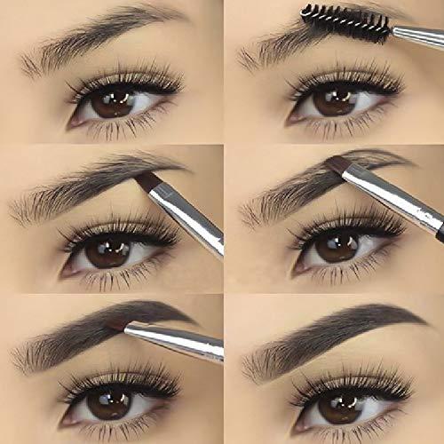 Nuovo Marchio Gel per Sopracciglia lunga Durata Resistente All'acqua Tatuaggio liquido Colorante per Sopracciglia Doppio fine Pen Eye Makeup (#01 BLACKBROWN)