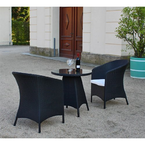 polyrattan sitzgruppe firstsmall kleine rattan balkonm bel balkon lounge m bel. Black Bedroom Furniture Sets. Home Design Ideas