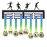 WEBIN Calcio Porta Medaglie, Football Medal Hanger, Sportiva Medaglia Display Rack, Metallo Porta Medaglie, Bend Metal Holder, 40 x 16,5 x 1,5 cm