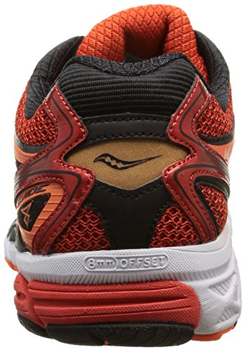 Saucony Guide 8, Chaussures Homme, Rouge multicolore (Red/Black/Orange)