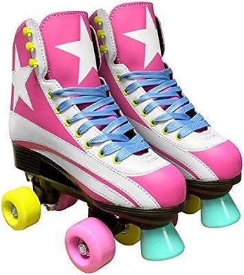 Stamp JQ200034 -patines con ruedas para niña, rosa, talla 34
