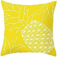 Almohada Funda De Cojín 45 cm x45 cm ronamick Piña sofá cojín Hojas Amarillo Pillow Cover