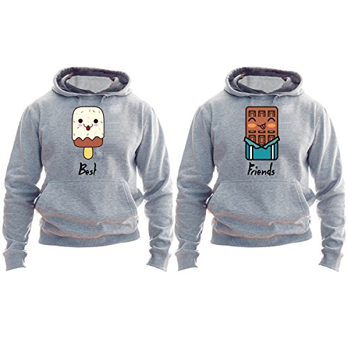 Best Friends Hoodies Ice Cream And Chocolate Matching Best Friends Ice Cream Hoodie