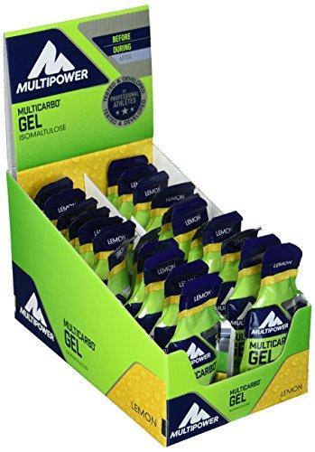 Multipower Endurance Multi Carbo Energy Gel im 24er Pack (24 x 40 ml) – Sportgel für eine schnelle und dauerhafte Energieversorgung – hochwertiger Kohlenhydratmix zur Leistungssteigerung – Lemon