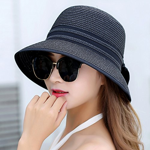 lkmnj-hats-ms-sun-hats-straw-hat-software-foldable-wide-edge-beach-black