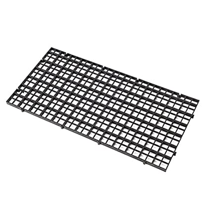 Wetrys 6 Pcs Grid Isolate Board Divider Fish Tank Bottom Black Filter Tray Aquarium Crate 2