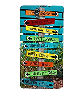 Fuson Designer Phone Back Case Cover Sony Xperia C3 Dual :: Sony Xperia C3 Dual D2502 ( Find The Right Route )