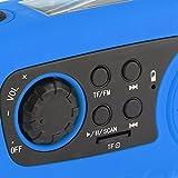 IntiPal FM Solar Radio Solarradio mit Kurbel Kurbeldynamo LED Taschenlampe Notfall Ernstfall USB Handy Ladegerät Camping Outdoor (Blau) - 2