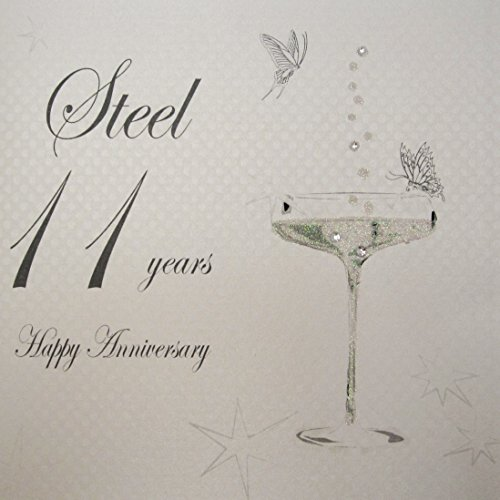 white-cotton-cards-bd111-coupe-glass-happy-anniversary-steel-11-years-handmade-anniversary-card-whit