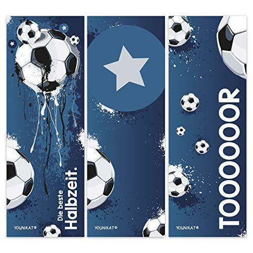 12er Set Fußball-Lesezeichen I 3 coole Motive I für Kinder Jungen I Einschulung Schulanfang Schultüte I dv_581 (Für Geburtstag Jungen Motto-ideen 1.)