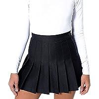 Juleya Women Girl Slim Cintura Alta Plisada Faldas de Tenis Mini Vestido