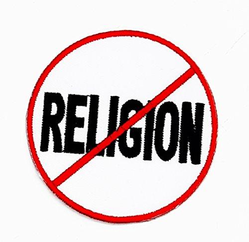rabana keine Religion Worte Funny Patch für Heimwerker-Applikation Eisen auf Patch T Shirt Patch Sew Iron on gesticktes Badge Schild Kostüm (Religionen Kostüme)