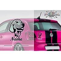 Golden Retriever #2 | Tier | Wunschtext | Auto Aufkleber | Hund