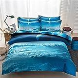 joybuy Bettbezug Bett Set 3D bedrucktem Galaxy Sky Cosmos Night Betten-Sets, Twin Queen, Bitte Prüfen Sie Die Größe in Detail, Polyester, multi, Twin