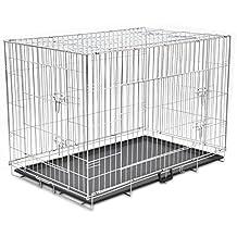 Anself - Jaula metálica plegable para mascotas perros, tamaño XXL (121x74x83cm)
