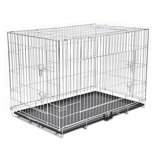vidaXL Hundekäfig Faltbar XXL Metall Transportbox Hundebox Transportkäfig