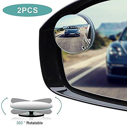 Jen OS 2 Stück HD Toter-Winkel-Spiegel, Winkel Spiegel Totwinkel Seite Spiegel HD 360 Weitwinkel Blindspiegel für alle Autospiegel