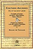 Ecritures Anciennes XVe-XVIIIe siècle : Exemples et formes de lettres, abréviations, mots et phrases