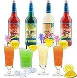 Cocktail Mix Set für 68 fertige Mischgetränke alkoholfrei - 4 Flaschen PreMix...
