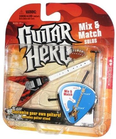 Guitar Hero 2009vague 1Mix match Solos avide Cèdre Ripple, Personnalisez votre propre Guitare. Comprend Support pour Guitare