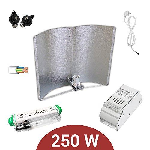 Kit d'éclairage 250 W AGROLITE SHP + Ballast ETI classe 1 + réflecteur Adjust-a-Wings