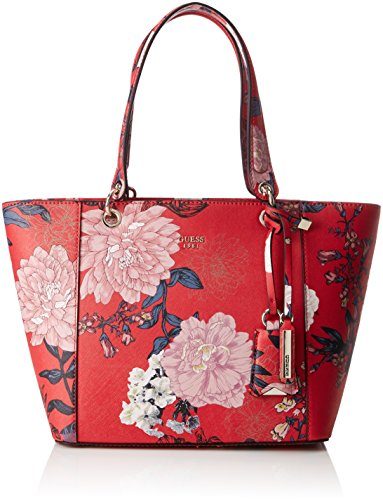 Guess Hobo, Borsa a Spalla Donna, Multicolore (Red Floral), 15x26.5x42 cm (W x H x L) Multicolore (Red Floral)