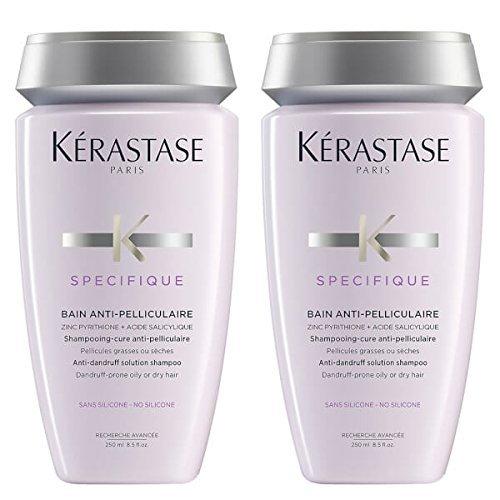 Anti-schuppen-behandlung (Kérastase, Antischuppen-Shampoo, Specifique Bain Anti-Pelliculaire, 250 ml, 2 Stück)