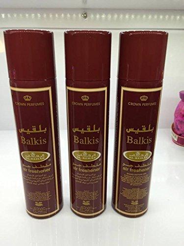Lot de 3 Air fresher 300ml Al Rehab Balkis + 1 OFFERT