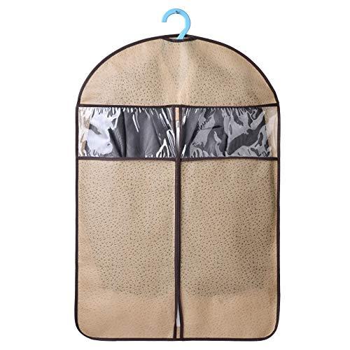 Kleidung Staubschutzhülle, hängende Kleidung Staubbeutel, feuchtigkeitsbeständige Haushaltsfalten (10 Packungen) 5 Farben (Farbe : Gelb, größe : 60 * 108cm)