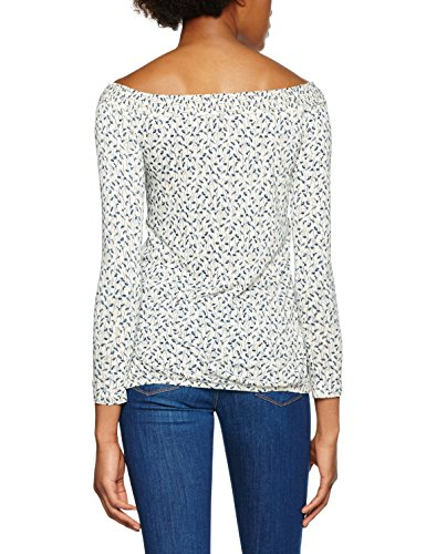 s.Oliver T-Shirt Donna dark cream AOP 08A3