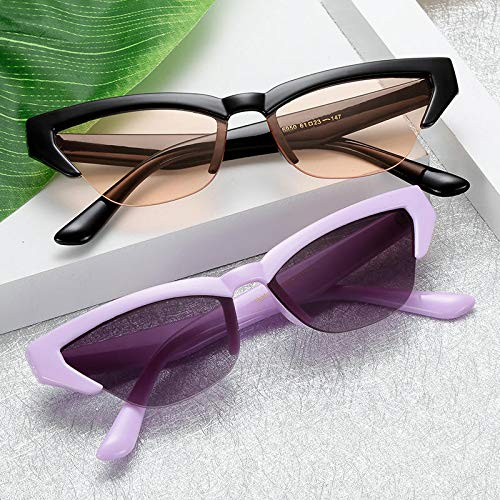 Sonnenbrillen Damen Flat Mirror Brillengestell Half Frame Outdoor Sports Sonnenbrillen Female Fashion Trend Sunglasses-1